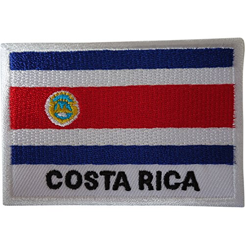 Costa Rica Bandera Parche hierro coser ropa bordado