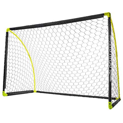 Franklin Sports Portable Soccer Goal - Kids Backyard Soccer Net - 6 x 4 Foot - All-Weather, Durable, Easy Storage - Blackhawk Goal