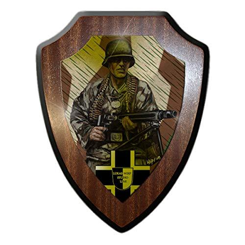 Copytec Wappenschild Lukas Wirp Feldwebel Soldat Splitter Tarn MG42 Erkennung #29049
