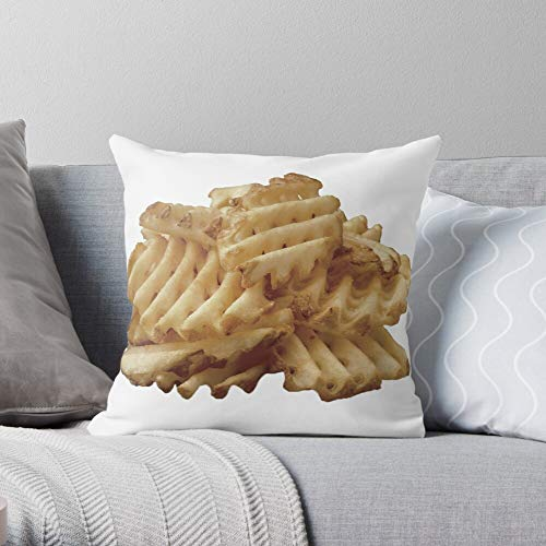 Waffle A Logo Fil Fries Waffles Chick Square Form Decorative Indoor Cotton Throw Pillow