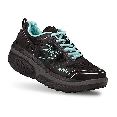 Gravity Defyer Damen Bewährte Schmerzlinderung Ion Athletic-Schuhe für Plantarfasziitis, Fersenschmerzen, Knieschmerzen 6 Schwarz Blau