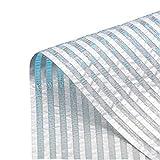 QIANMEI Lonas Sombra Exterior Toldo Vela 55% De Aluminio Reflectante Lámina De Malla-UV De Protección Utilizado En Suculentas, Flores, Balcones, Terrazas Y Jardines, Disponible En 18 Tamaños