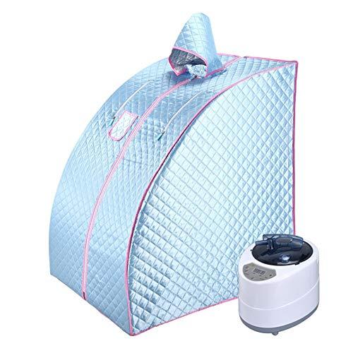 ALY Ångbastu hemmabruk bärbart spa-tält, spa koppla av fördelaktigt kalorier vikt håll huden frisk, med stol, ånggenerator etc., C