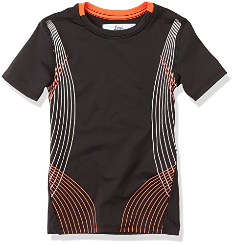 RED WAGON Jungen Sport T-Shirt, Schwarz (Black), 10 Jahre