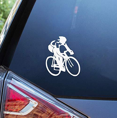 Funny Car Sticker for Cars 13cm X 13cm Cycling Sticker Road Bike Swim Run Ironman Triathlon Car Window or Bumper Decal Auto Motor Decoration