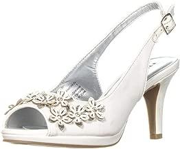 Karen Scott Womens Bronaa Peep Toe Slingback Classic Pumps, White, Size 8.0