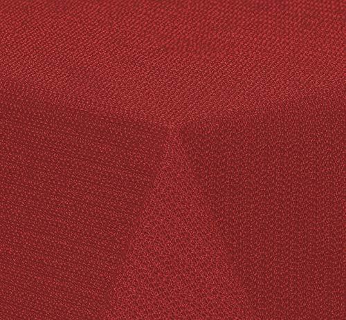 Brandsseller - Gartentischdecke geschäumt wetterfeste und rutschfeste Tischdecke für Garten Balkon und Camping Eckig 110x140 cm - Rot