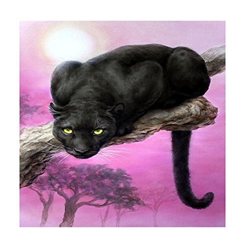 AIHOME Panther DIY 5D Diamond Embroidery Painting Mosaic Rhinestone Cross Stitch Kits for Home Decor
