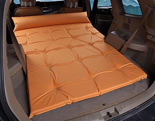 Lameila Car Outdoor Travel Bed Airbed Mattress Rear SUV car, Orange
