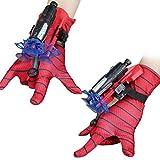 BASOYO Launcher Guantes para niños Spider-Man, guantes de plástico Cosplay Hero Launcher muñequera, juguete divertido para niños, juguete educativo, talla única