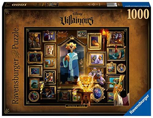 Ravensburger Puzzle 1000 Pezzi, Principe Giovanni - Robin Hood, Collezione Disney Villainous, Puzzle Disney, Jigsaw Puzzle per Adulti, Stampa di Alta Qualità