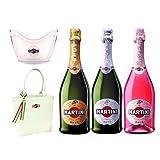 マルティーニ スパークリングワイン 3種飲み比べ ワインクーラー・トートバッグ付き 750ml×3本セット