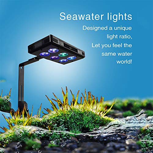 DMH Aquarium LED Reef Light,57W Dimmable Full Spectrum Marine LED for Saltwater Coral Fish Tanks,with Touch Control and Chips for Coral Reef Fish Nano Tank