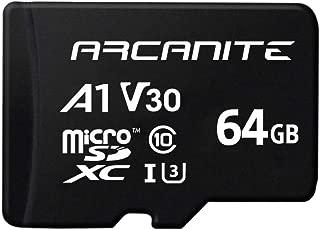 【Amazon.co.jp 限定】アルカナイト(ARCANITE) 64GB microSDXCカード UHS-I U3, A1, V30, 4K, C10, SDアダプター付 - AKV30A164