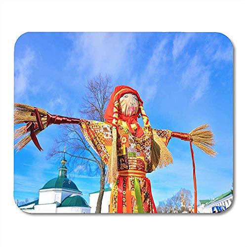 Mausemat Fastnacht In Russland Suzdal Große Puppe Symbol Der Pfannkuchen Tischrechner Matten Mauspads Notebooks Bürobedarf 25X30Cm