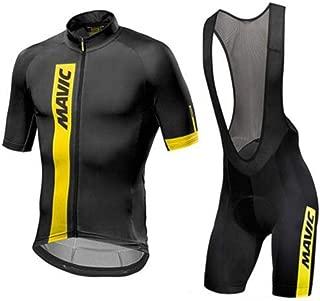 Jersey De Ciclismo para Hombre + Pantalón Corto Acolchado con Gel 3D Conjunto Transpirable Jerseys De Ciclismo De Secado Rápido Conjunto Mountain Bike Road Sportswear a-L