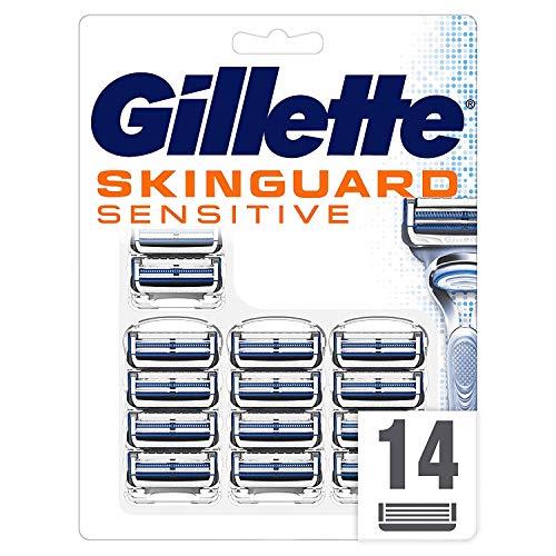 Gillette SkinGuard Sensitive Rasierklingen für Männer, 14 Stück