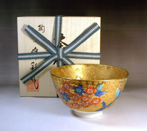 Why Choose Arita - Imari | green tea bowl - tea utensils | golden Sakurae tea cup Fujii NishikiAya
