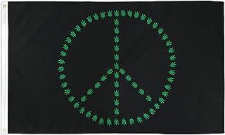 AZ FLAG Bandera Paz Rasta 150x90cm - Bandera Bob Marley Rasta 90 x 150 cm