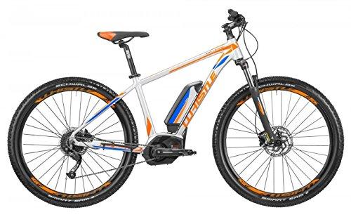 Mountain Bike elettrica eMTB con pedalata assistita Whistle B-WARE CX 500, 9 velocità, colore grigio ultralight - arancione, misura S (155 - 170 cm)