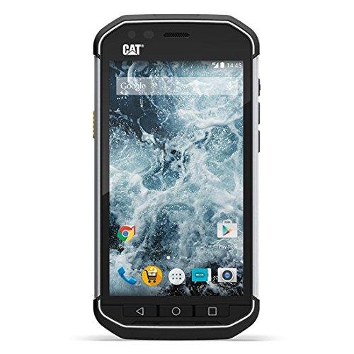 CAT S40 Outdoor Smartphone (Dual-SIM, 4,7 Zoll (11,94 cm), 8 MP, 1GB, 16GB int. Speicher, LTE, staubfest, stoß & sturzfest) schwarz/silber