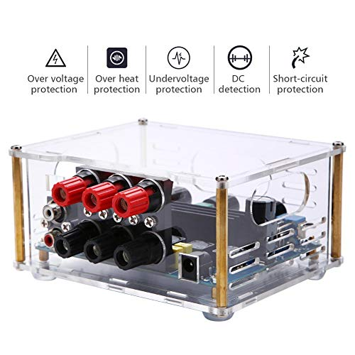 ASHATA digitale audio stereo power versterker board, TPA3116D2 2 * 50W/1 * 100W digitale audio eindversterkerplatine, heavy bas 3-kanaals subwoofer Amp Stereo Eindversterker Board DC12-24V