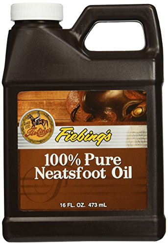 Fiebing's 100% Pure Neatsfoot Oil - Natural Leather Preserver - For Boots, Baseball Gloves, Saddles and More - 16 oz