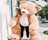 Bananair osito osos de peluche gigante (130 cm a 340 cm ) gran oso xxl teddy bear piel suave, cumpleaños, navidad, regalo, juguete (260 cm)