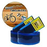 "Rhinodillos 700c Bicycle Tire Liner for Road Bikes 700 X 20 – 25c, 27"" X 1"", no Package Orange Pair (2 Liners)"