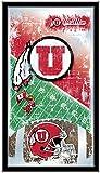 Holland Bar Stool Company NCAA Utah Utes 15 x 26-Inch Football Mirror