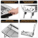 Uten Barbecue Grill Portable BBQ Charcoal Grill Smoker Grill for Outdoor Cooking Camping Hiking Picnics Backpacking 10