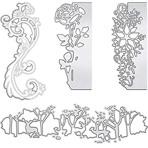 Cutting Dies Metal Cutting Die Stencil Rose Die Cuts for DIY Scrapbooking Card Making