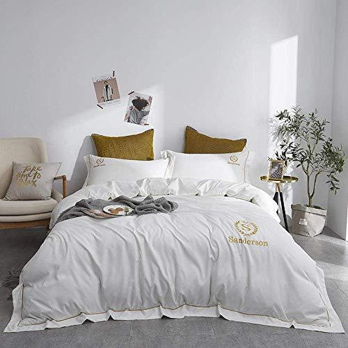 Bedding Duvet Cover Sets,Satin Silk Solid Bedding Set Home Textile Lightweight Microfiber Duvet Cover Set