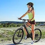 Vélo de Montagne Electrique 27,5 Pouces on/Off-Road 250 W 25 km/h avec Batterie Lithium-ION 36 V 10,4 Ah Shimano 7 Vitesses Adultes EU - Orange Noir [EU Direct]