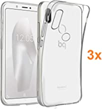 Pack 3X Case Flexible Silicone TPU for BQ AQUARIS C, Ultra Thin 0.33mm, Crystal Clear