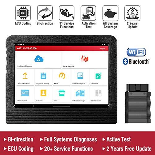LAUNCH X431 V+ Valise Diagnostic Multimarque pour Systèmes Complets, Compatible avec Android WiFi DBScarII Bluetooth, avec 2 Ans Mise à Jour Gratuite
