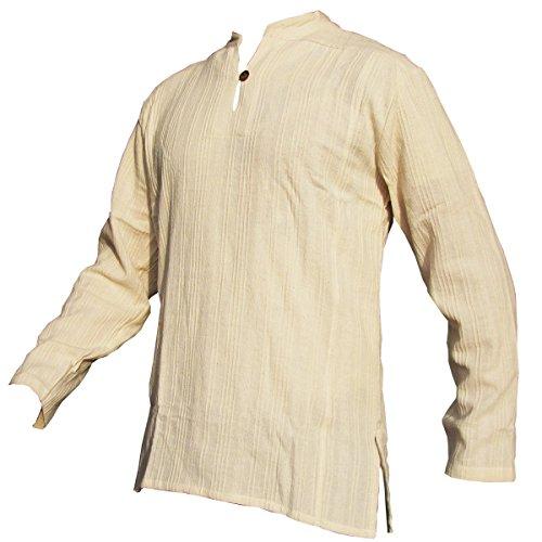 Fisherman Shirt Ben,beige, M, Longsleeve