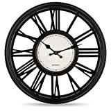 Bernhard Products Decorative Wall Clock 18 Inch Silent Non Ticking Extra Large Quartz Battery...