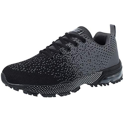 VVQI Buty do biegania, męskie, damskie, sneakersy, modne, lekkie, oddychające, do fitnessu, szary - 005 4 szary - 38 EU