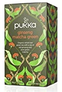 Ginseng Matcha Green Tea Whole leaf Sencha green tea with the zip of lemongrass, ginger and pure red ginseng. Organic Suitable for vegetarian and vegan Gluten Free , Wheat free