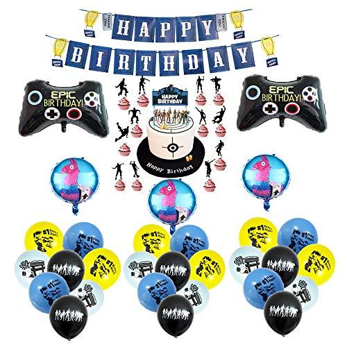 smileh Gaming Geburtstags deko Videospiel Luftballons Gaming Folienballons Videospiel Banner Game Tortendeko Video Gaming Partyzubehör