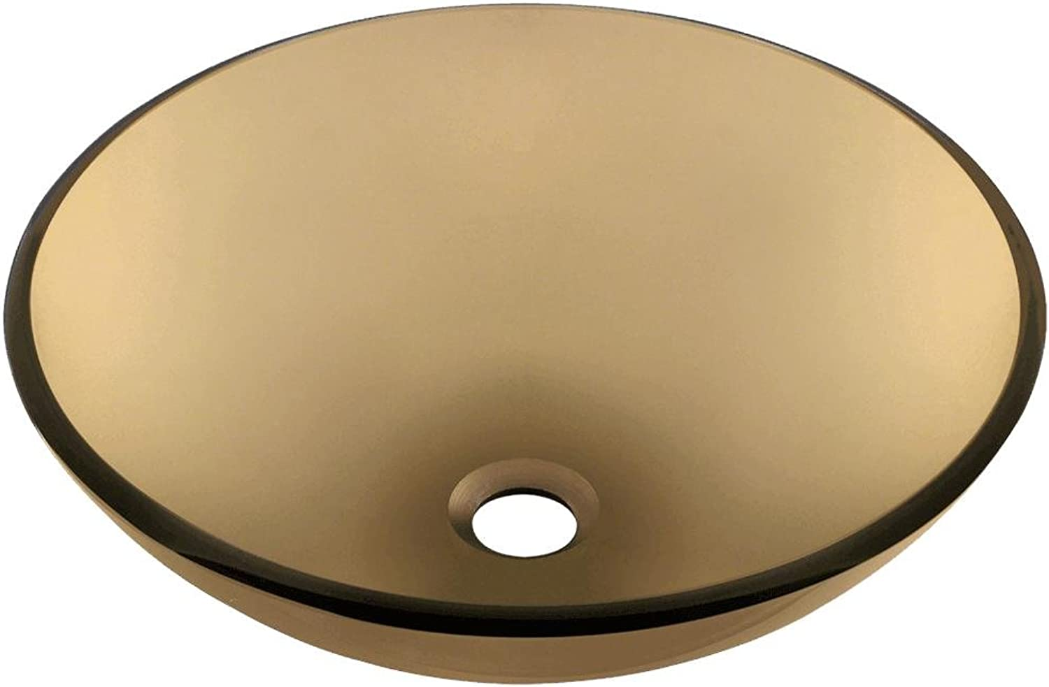 MR Direct 601 Taupe Coloured Glass Vessel Sink by MR Direct