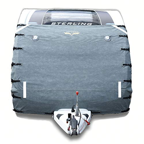 Caravan Universal Front Towing Cover by Defender | Protector Covers Accessories | GREY