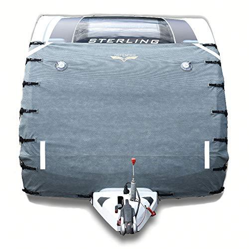 Funda protectora universal, para parte frontal de caravana, color gris, marca Defender