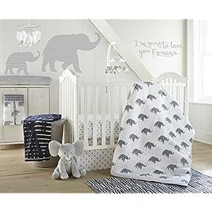 Levtex Home Baby Malawi Navy Elephants 5 Piece Crib Bedding Set