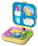 Polly Pocket Coffret Secret le Ciel Étoilé de Shani avec mini-figurine, 3Surprises, accessoires et autocollants, jouet enfant, GDK78