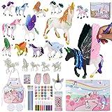Unicorno Giocattolo Bambina Set Pittura 18 Unicorni - BONNYCO | Lavoretti Creativi Bambini Illuminano Al Buio | Giochi Bambina 3 4 5 6 7 8 9 Anni Regalo Bambina Compleanno Natale | Unicorno Bambina