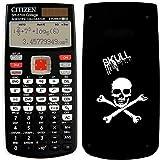 Calculadora científica Citizen SR270X SKULL, calculadora científica portátil de doble alimentación, calculadora de bolsillo técnico-científica, calculadora científica 251 funciones con funda