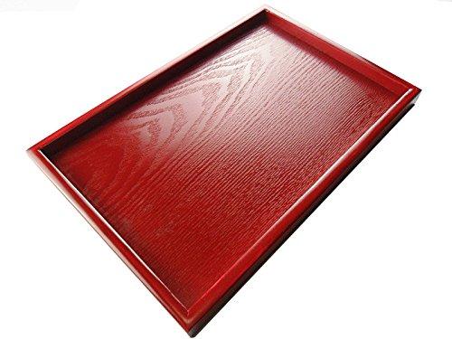 Super UD rot Holz Serviertablett Deko Tablett rechteckig dienen für Food Kaffee oder Tee