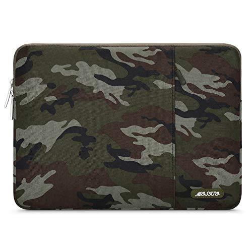 MOSISO Funda Protectora Compatible con 13-13,3 Pulgadas MacBook Air/Mac Pro Retina/2019 Surface Laptop 3/Surface Book 2, Bolsa Blanda de Repelente de Agua de Estilo Vertical, Camuflaje Verde Militar